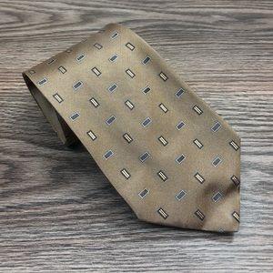Hart Schaffner Marx Gold w/ Grey Check Tie